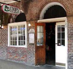 """Coop's Place New Orleans French Quarter. """"Where the not-so-elite meet to eat.""""  Love the atmosphere Love the Cajun cooking!"""