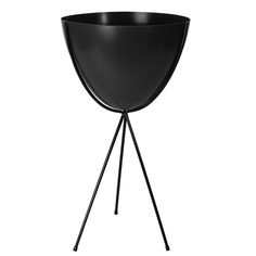 "Bullet Planter 30"" Black  by Hip Haven #designtrend #productdesign Might look nice on the deck in summer!"