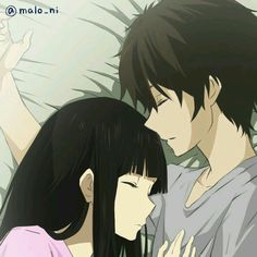 Oreki x Chitanda... Aww... so cute
