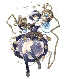 View an image titled 'Alice, Travelers Job Art' in our SINoALICE art gallery featuring official character designs, concept art, and promo pictures. Female Character Design, Character Design Inspiration, Character Concept, Character Art, Fantasy Characters, Anime Characters, Anime Art Fantasy, Anime Weapons, Animes Wallpapers