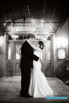 A bride and groom outside of their reception at Park Lane in Birmingham, AL. (Daniel Taylor Photography)