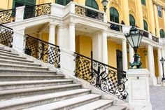 Palace Schönbrunn - the summer residence of the Habsburgs. The stunning Baroque palace is a must-visit destination on your Viennese trip. Vienna, Palace, Stairs, Home, Stairway, Staircases, House, Stairways, Homes