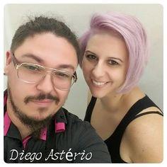 """Top 100 short purple hair photos Levemente roxo... violeta ... Logo mais o """"antes e depois"""". A cara do cabeleireiro de """"morto""""... Sábado pauleira.... #hairfashion #hairstyles #cuthair #cuts #shorthair #shortcutblonde #shortpurplehair #purplehair #colors #coloração #roxo #purple #blogueira #blogueiraspe #blogueirasbrasil #youtubers #clientes #clientesatisfeita #clientevip #clientefeliz #artistichair #regram #saturday #salon See more http://wumann.com/top-100-short-purple-hair-photos/"""
