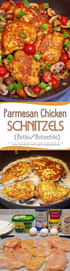 Parmesan Chicken Schnitzels or Bitki/Bitochki (in Russian) #Healthy #Easy…