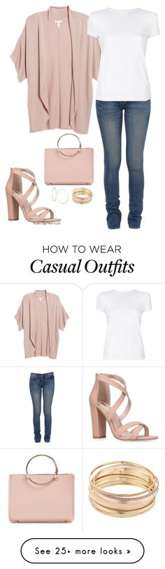 """Casual Saturday afternoon"" by veronababy on Polyvore featuring Miss KG, Future Glory Co., Yves Saint Laurent, Leith, Helmut Lang, Mudd and GUESS"