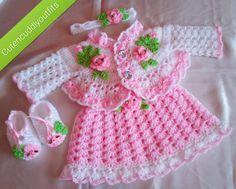 Rosebuds Baby Dress Crochet Pattern by CUTENCUDDLYOUTFITS on Etsy