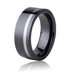 8MM Black Ceramic Ring For Men Wedding Band  Fashion Classic Jewelry Tungsten Finger Ring Engagement Anniversary Gift  TU071R