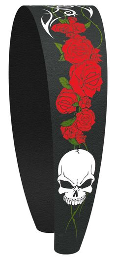 Harley-Davidson® Womens Skull & Roses Fashion Headband by Hair Glove®