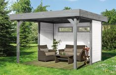 Pavillon WEKA «Gartenlaube 657» - 4-Eck-Holz-Pavillon | Pavillon Garten Laube aus Holz Pavillion
