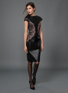 black leather and lace dress - Google Search