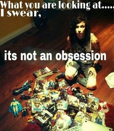 lol SURE andy, its definetly NOT an obsession! :D we still love you and your bat man toys