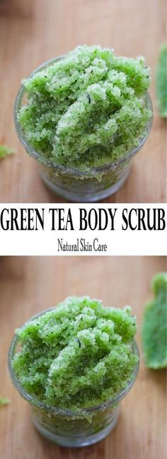 Easy green tea sugar scrub with all the benefits of green tea and only three ingredients. Add essential oils for a nice aroma