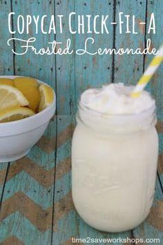 CopyCat Chick Fil A Frosted Lemonade #copycat #easyrecipe