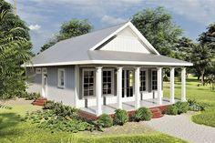 House Plans One Story, Cottage House Plans, Best House Plans, Small House Plans, Cottage Homes, House Floor Plans, Retirement House Plans, Craftsman Cottage, Cottage Ideas