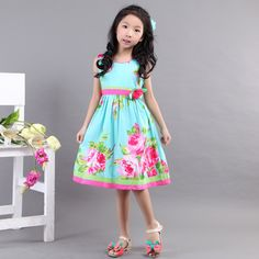 Bonny Billy flowers all over dress_zomerjurkjes voor meisjes_betaalbare kinderkleding