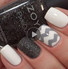 Mix Black Glitter White And Gray Sooooooooooooo cute!