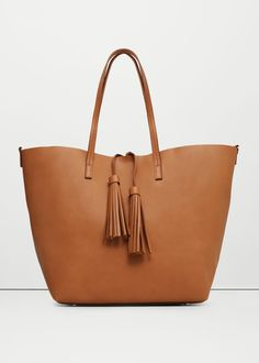 Bolso shopper borlas | MANGO