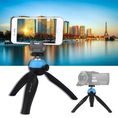 OMLTER Travel Portable Aluminum Profession Camera Tripod Compact Light Weight Camera Tripods SLR Camera Tripod Live Photography Head with Carry Case