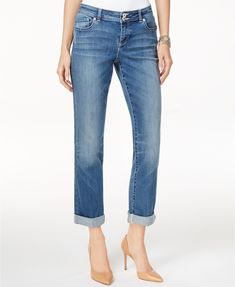 INC International Concepts Curvy-Fit 5-Pocket Straight-Leg Jeans, Created for Macy's | macys.com