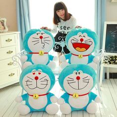 5pcs Doraemon Plush Toys Cute Stuffed Animal Japanese Plush toy Stuffed and plush Toy Anime doll Cartoon kids doll Soft toy