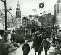 Amsterdam flowermarket 1965