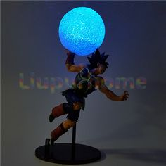 Rare Dragon Ball Z Vegeta Fight Sence LED Light Table Lamp Boy Birthday Gift Toy