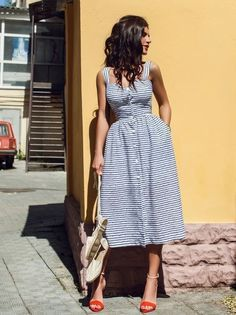 This summer keep it cool with a beautiful dress Picture by latestfashion101.uk #summer #dress #outfit #ideas #date