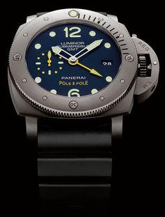 La Cote des Montres : La montre Panerai Luminor Submersible 1950 3 Days GMT Automatic Titanio – 47mm Pole2Pole - Mike Horn et Officine Panerai se retrouvent pour l'expédition Pole2Pole