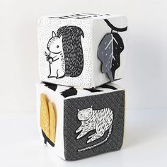 soft + stackable. Full of crunchy crinkles, rich textures, high-contrast illustrations for baby's vision, and taggies for lil' grabbers.… Newborn Toys, High Contrast, Crinkles, Bookends, Baby Kids, Illustrations, Texture, Gallery, Design