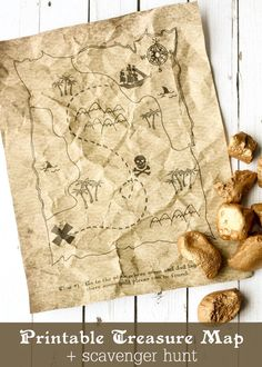 Printable Treasure Map Kids Activity - Free Coloring Pages and Scavenger Hunt { lilluna.com }