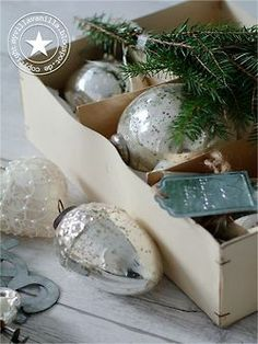 .silver christmas baubles