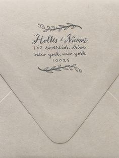 Branches Return Address Custom Stamp