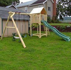 WW Rough 'n Ready Cedar Fort & Swing Playset - 7 Activity Playset 2011 $1173