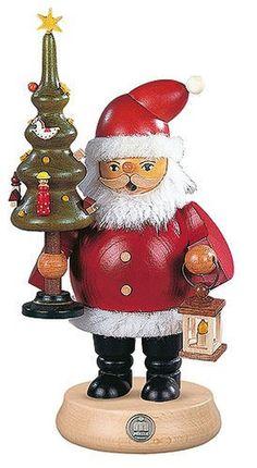 German incense smoker Santa Claus, height 23 cm / 9 inch, original Erzgebirge... #ISDDCuckooClocks