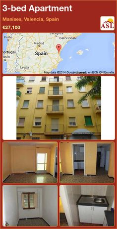 3-bed Apartment in Manises, Valencia, Spain ►€27,100 #PropertyForSaleInSpain