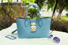 miu miu Original Grainy Leather Tote Bag MM3266 SkyBlue - $259.00