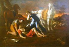 Nicolas Poussin (France, 1594-1665) – Tancrède et Herminie (1649) Musée de l'Ermitage, Saint-Pétersbourg