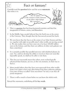 5 FREE WORKSHEETS~  This printable investigates the possibility of life on other planets to practice reading, processing, and noting key points in nonfiction text.