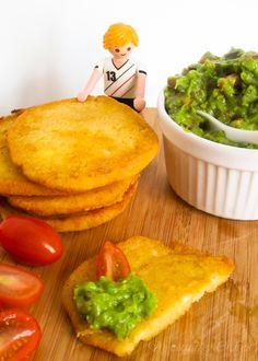 Arepitas mit Guacamole als kleiner Snack zwischendurch