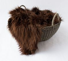 Chocolate Brown Mongolian Faux Fur Prop by SweetBabyJamesShop
