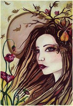 ~Autumn Magical Fae~ watercolour mixed media painting ~♥ĦelenFaerieÅrt♥ ©2013  #autumn #society6 #new #artshop #beauty #whimsical #artoftheday #artists_community #artist_community #art #wicca #whimsical  #picoftheday #pagan #facebookpage #follow #like #deviantart #helenfaerieart #ilovedrawing #artist #illustrateyourworld #instagram www.facebook.com/Helenfaerieart