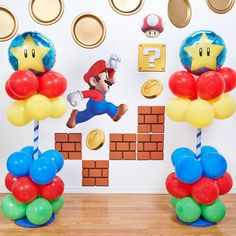 Isn't it fun to have a Super Mario party? I hope this list of Super Mario party ideas can inspire you to create a Super fun party. Super Mario Party, Super Mario Birthday, Mario Birthday Party, Nintendo Party, Happy Birthday B, Mario E Luigi, Mario Kart, Video Game Party, Video Games