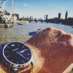 Who can name the London landmarks in this shot?! #riverthames #croftwatches #history #fashion #style #watchesofinstagram #london #city