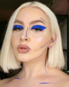 Go Wide: Colorful Brush Strokes Are Kicking Basic Cat Eyes to the Curb - Creative Makeup - Make-Up Makeup Trends, Makeup Inspo, Makeup Inspiration, Makeup Ideas, Makeup Hacks, Makeup Designs, Crazy Makeup, Cute Makeup, 60s Makeup