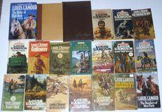 20 Louis L'Amour Vintage Western Books Sackett (Leatherette) Hardcover Paperback