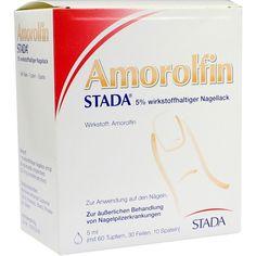 AMOROLFIN STADA 5 prozent wirkstoffhaltiger Nagellack:   Packungsinhalt: 5 ml Wirkstoffhaltiger Nagellack PZN: 09098199 Hersteller:…