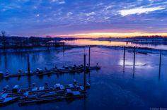 #Elbe #Sonnenaufgang #Horizont