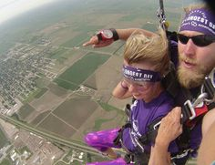 Idea # 1: Take the Longest Dive --In 2014, Alzheimer's Champion Ann Tillery skydived on #TheLongestDay #ENDALZ For more activity ideas, go to thelongestday.alz.org
