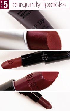 5 Must-Have Burgundy Lipsticks
