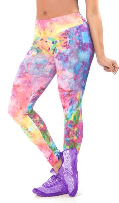 Watercolors Workout Leggings